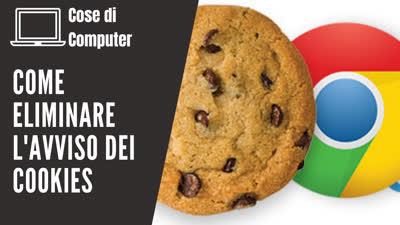 Cover come eliminare l'avviso dei Cookies