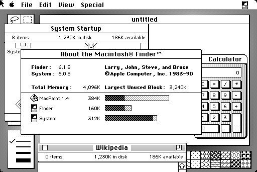 Screenshot del Macintosh
