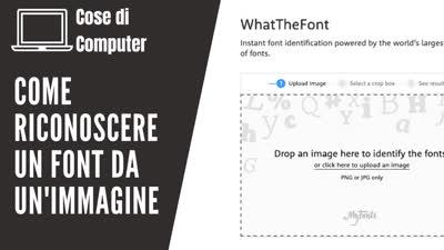 Riconoscere un font da un immagine