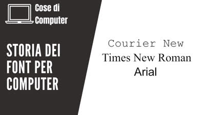 Storia dei font per computer